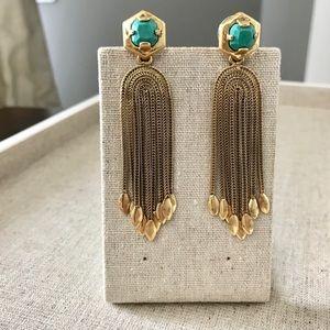 Stella & Dot Odeon vintage chandelier earrings